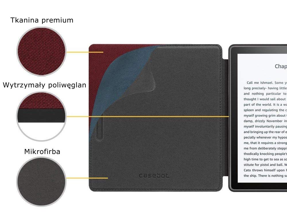 Etui do Kindle oasis 2 - casebot w kolorze bordowym