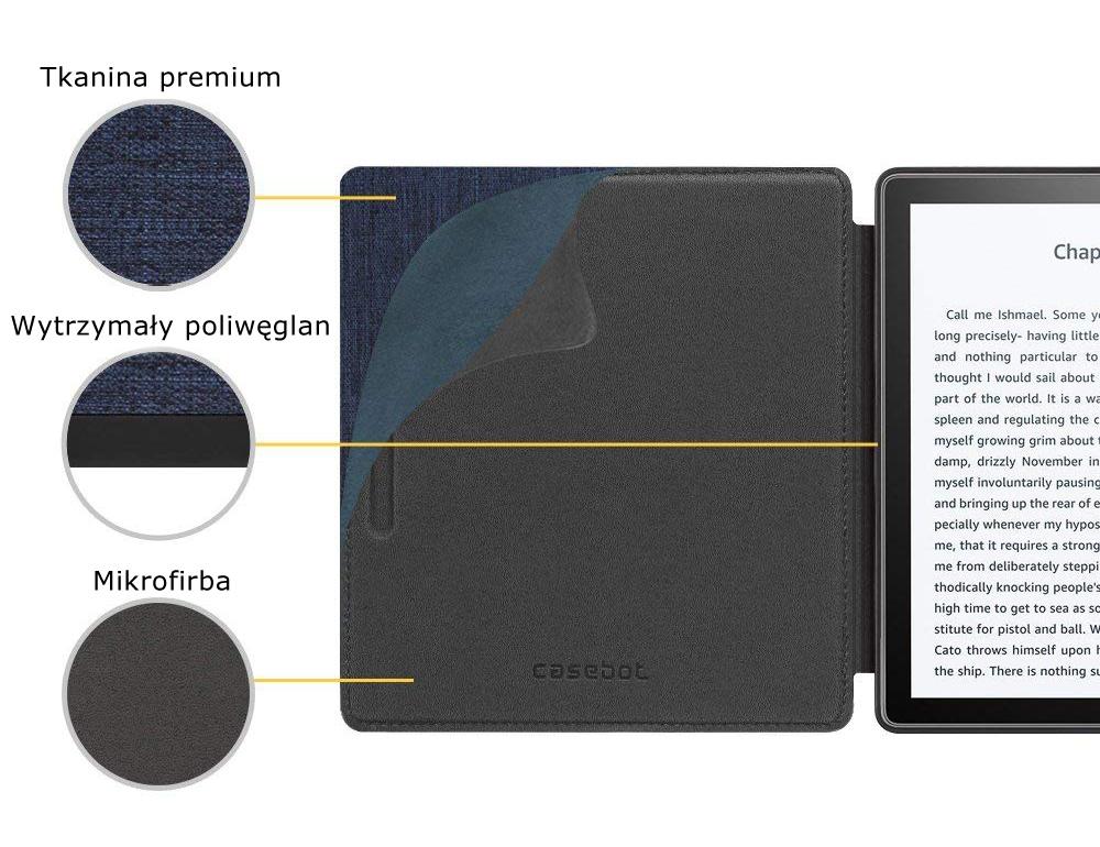 Etui do Kindle oasis 2 - casebot w kolorze Etui do Kindle Oasis 2 (model 2017) w kolorze szarym (Casebot)      etui zaprojektowane przez firmę Fintie z materiamów wysokiej jakości     warstwa zewnętrzna wykonana z wytrzymałego poliwęglanu oraz przyjemnego w dotyku materiału     warstwa wewnętrzna wykonana z antypoślizgowej mikrofibry dla większego bezpieczeństwa i ochrony     etui automatycznie wybudza i usypia czytnik     mocny magnes oraz wytrzymała konstrukcja dobrze chroni czytnik  Etui do Kindle oasis 2 - casebot w kolorze szarym  Etui do Kindle oasis 2 - casebot w kolorze szarymEtui do Kindle oasis 2 - casebot w kolorze granatowym