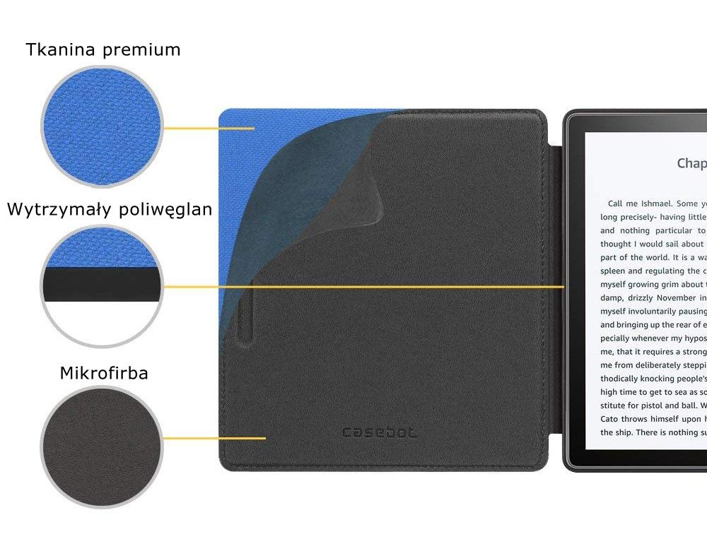 Etui do Kindle oasis 2 - casebot w kolorze niebieskim