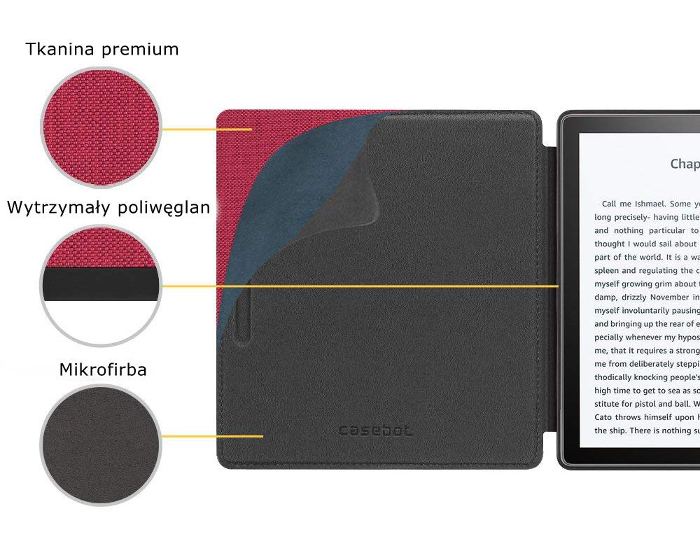 Etui do Kindle oasis 2 - casebot w kolorze czerwonym