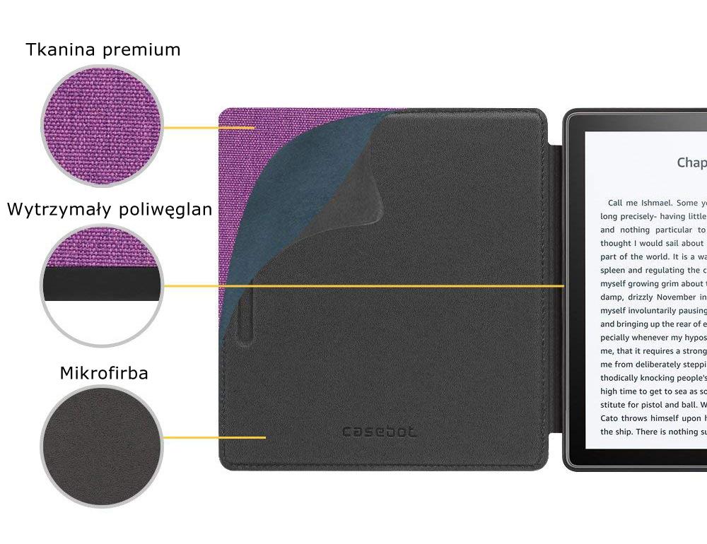 Etui do Kindle oasis 2 - casebot w kolorze fioletowym