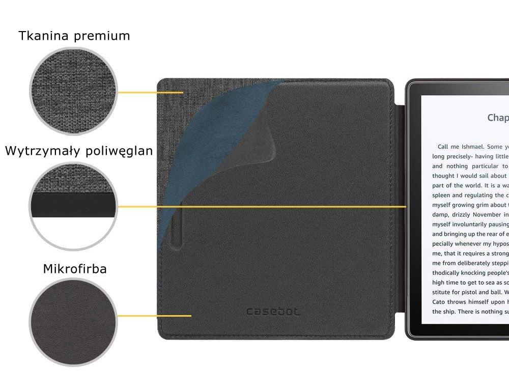 Etui do Kindle oasis 2 - casebot w kolorze szarym