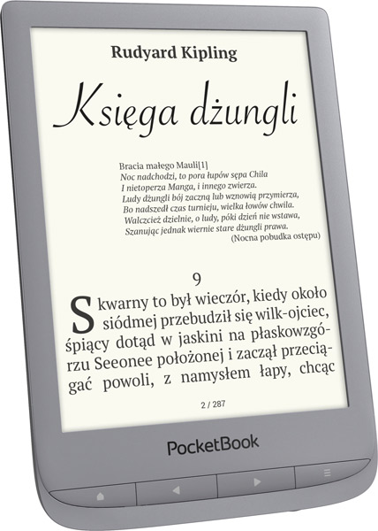 PocketBook Touch Lux 4 (627) w kolorze srebrnym