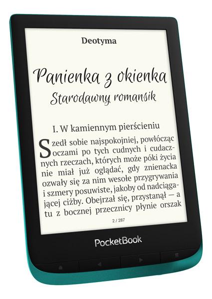 PocketBook Touch Lux 4 (627) w kolorze szmaragdowym
