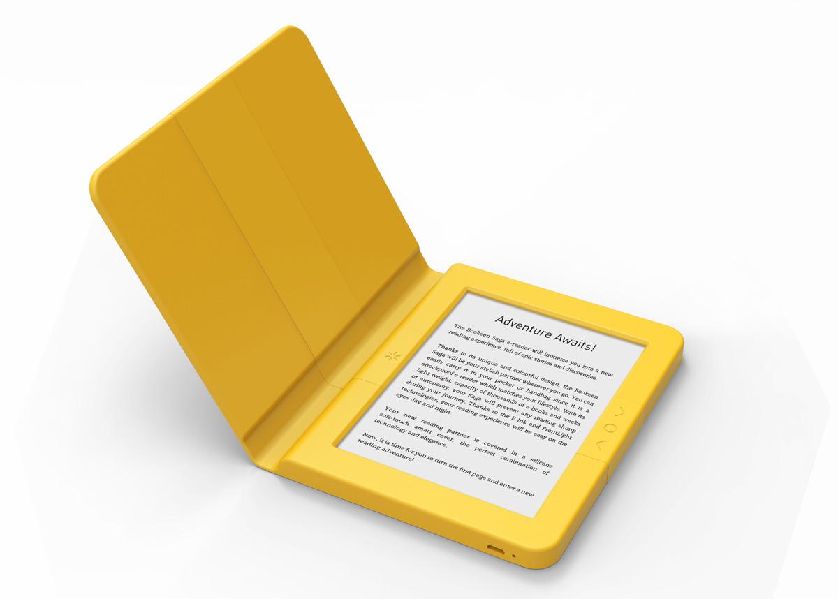 Bookeen Saga z etui żółtym