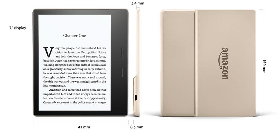 Amazon Kindle Oasis 2 (2017) 32GB Gold- wymiary